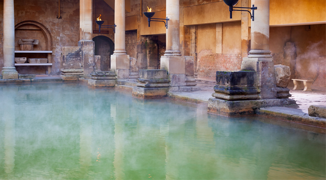 Senie spa baseini ar karstajiem avotiem