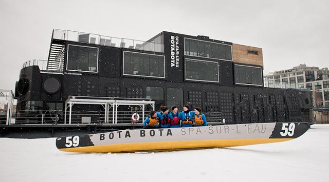 Aux premières loges pour le Défi canot à glace Montréal