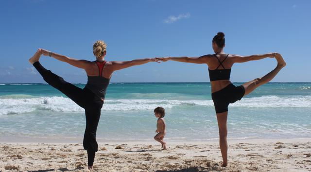 Yoga + Plage = Bonheur!