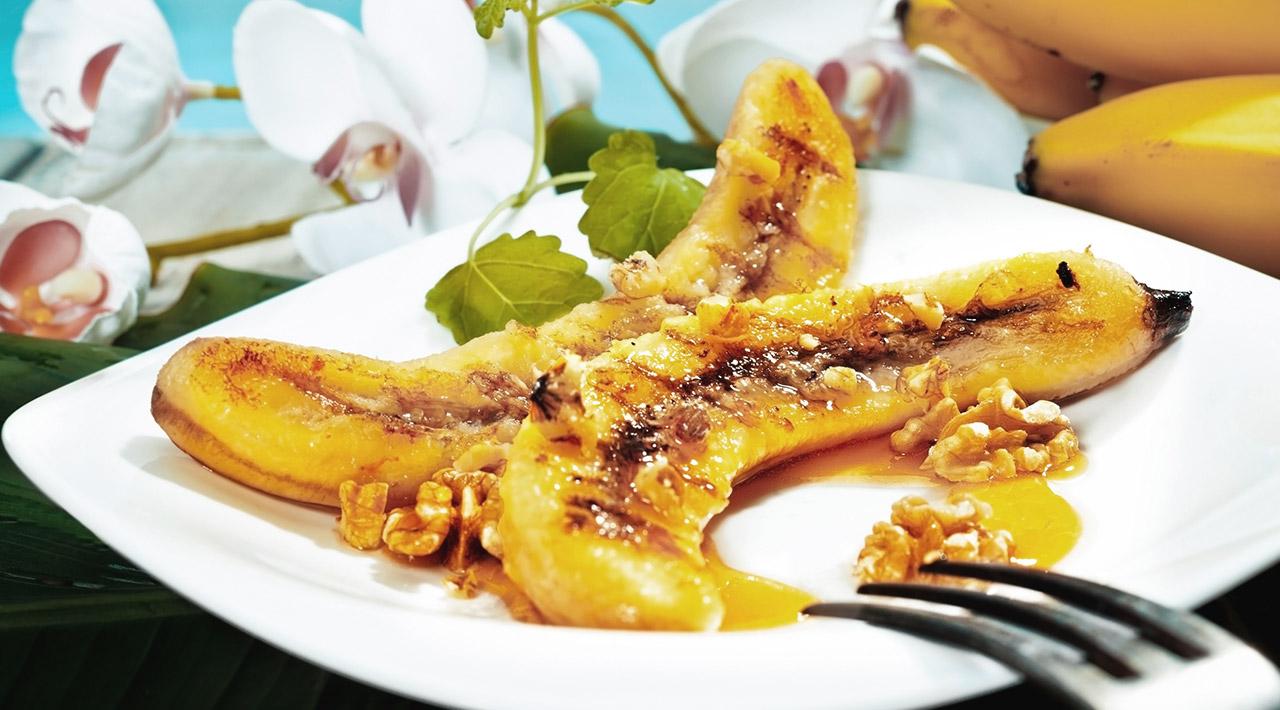 Recette : Bananes grillées aux pacanes