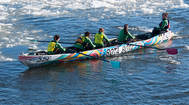 Présentation de l'équipe : Les canotières du Bota Bota