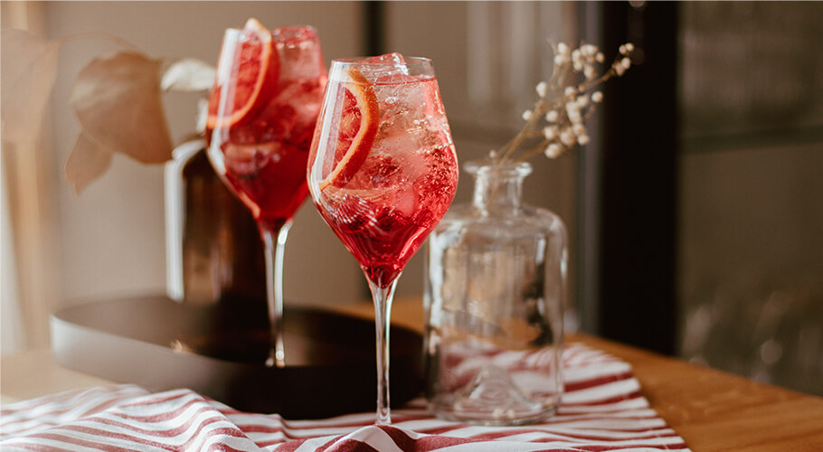Non-alcoholic Spritz for Valentine's Day